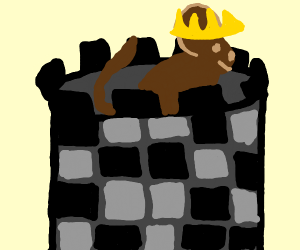 King rat on castle walls
