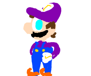 Mario in Purple Outfit