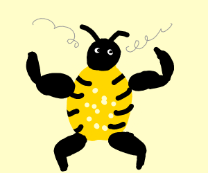 The manliest of bees!