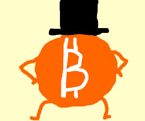 Bitcoin wearing a Top Hat