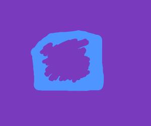 purple bread with purple jam on