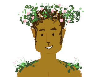Man who is one with the forest.