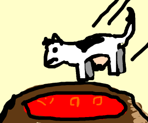 Cow is thrown into volcano as tribute