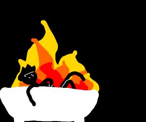 Fire bath