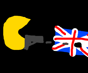 pacman sucessfully shoots england