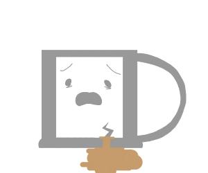 Living mug is broken loosing coffee fast
