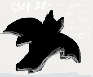 Step 27: Grow bat wings and soar