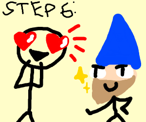 Step 6: fall in love with 1 of the 7 dwarves