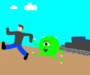 me and my new alien friend escaping area 51