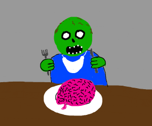 Zombie hungry for brains