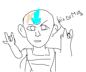 Hit or miss, but it's Aang from AtLA