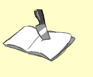 reading with knives