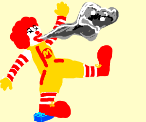 RonaldMcDonald stepped on lego, lost his soul