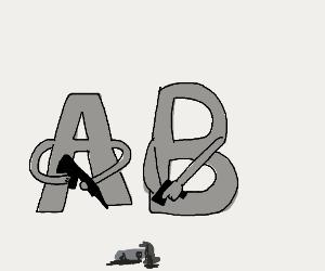 A and B murder a hammer