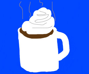 Hot Chocolate with Whipped Cream on top
