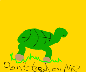 Turtle saying not to tread on it