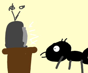 ant watching tv