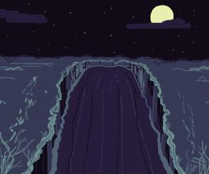 Canyon at night