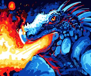 Fire breathing lizard