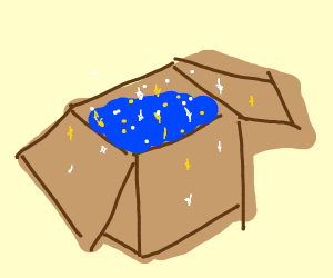 A box with stars