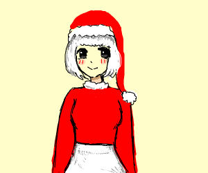 ms. claus as an anime girl