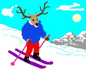 Reindeer skis