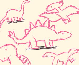 Dinosaur age but pink