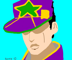 Person with a star hat