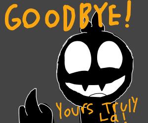 black boy says goodbye
