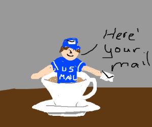 Mail Carrier in a Teacup