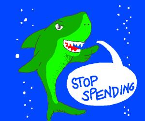 green shark orders u to stop speeding