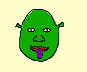 Shrek with Purple Tongue