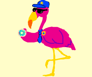 Flamingo Police Officer