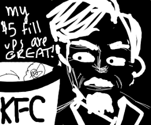 KFC guy in black and white