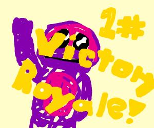 barney got an epic victory royale
