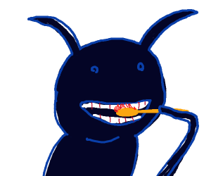 Ant brushes his teeth