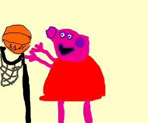 Peppa pig is now tall enough for the NBA