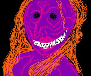Creepy purple woman
