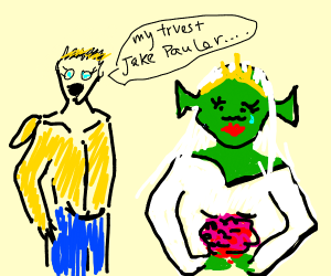 Jake Paul marry Shrek...