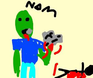 zomboi eating broins