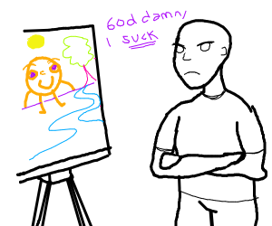 Insulting your own painting