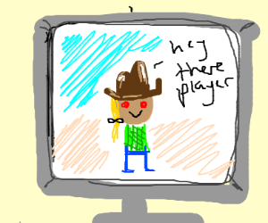 Cowboy discovers he is in a Video Game
