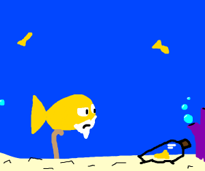 Old Fish discovers gold nugget in a bottle