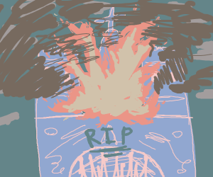 rip notre dame (tombstone)