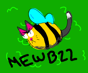 Angry bee cat thing