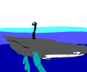 A whale with a periscope