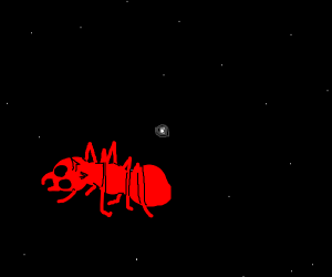 Giant Ant In Space