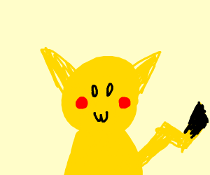 pikachu with a thumbs up with owo face