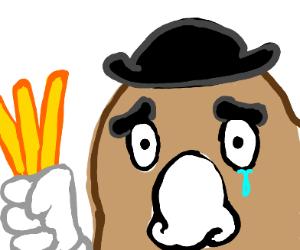 Mr. Potato Head crying
