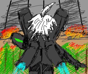 robot dude in apocalypse